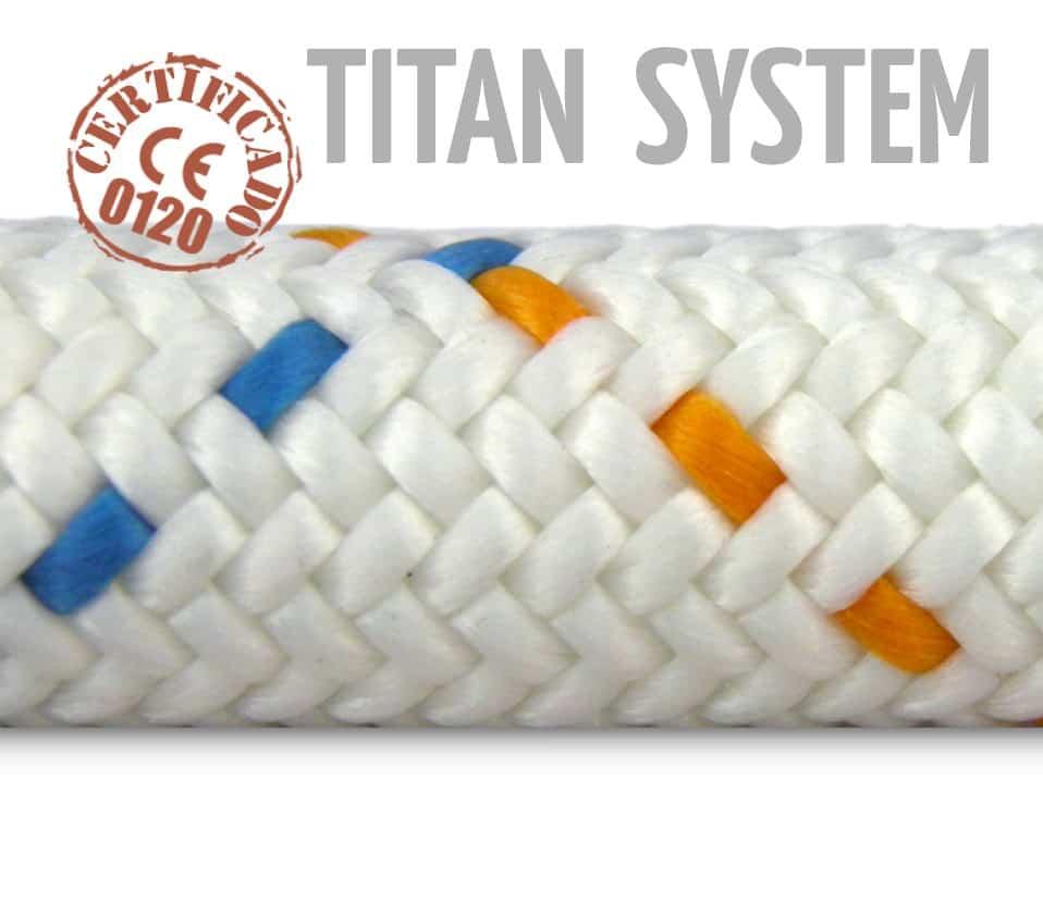 637-Cuerda-TITANIA-12 Elementos de anclaje y sujeción indispensables para trabajos en altura. Ropa Anticorte