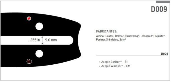 """Espada oregon prolite 3/8 16"""" (40cm) 1,5mm"""