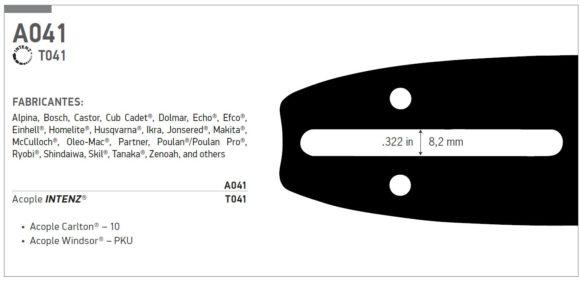 """Espada oregon hobby 3/8 BP 16"""" (40cm) 160SDEA041"""