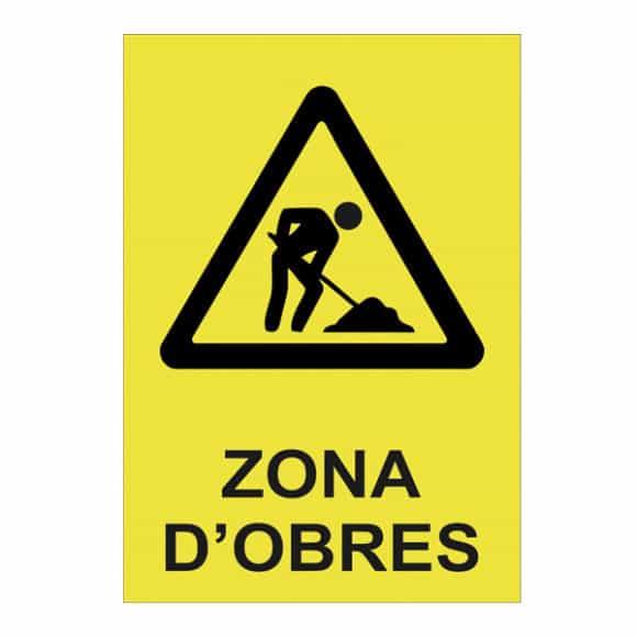 cartell zona obres
