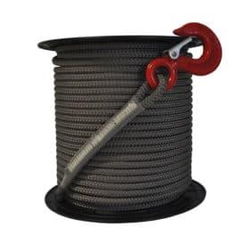 rollo cuerda gris