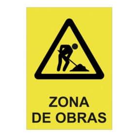 letrero zona de obras