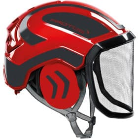 Casco Protos Integral rojo negro