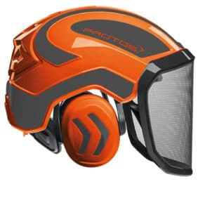 Casco protos integral naranja gris