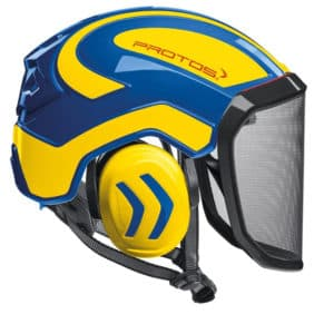 Casco Protos Integral amarillo azul