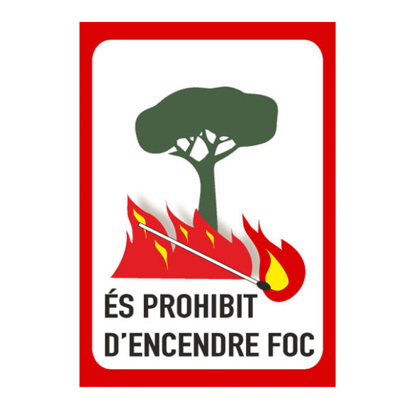 cartell prohibit encendre foc
